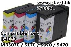 PGI2700XL K/C/M/Y 代用墨盒 一套4色