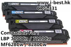 CRG331 K/C/M/Y代用碳粉