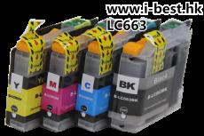 LC663 K/C/M/Y 代用墨盒